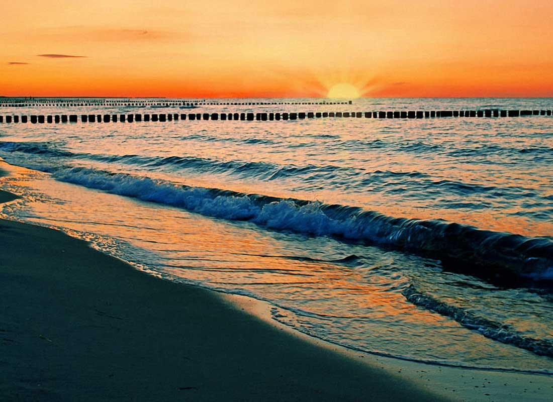 Sonnenuntergang Ostsee Zingst